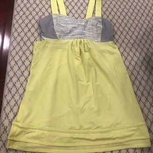 Lululemon pale yellow & space dye No Limit Tank 4